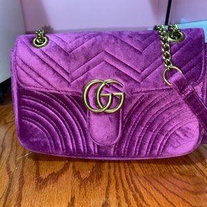 Velvet Gucci Marmont Bag